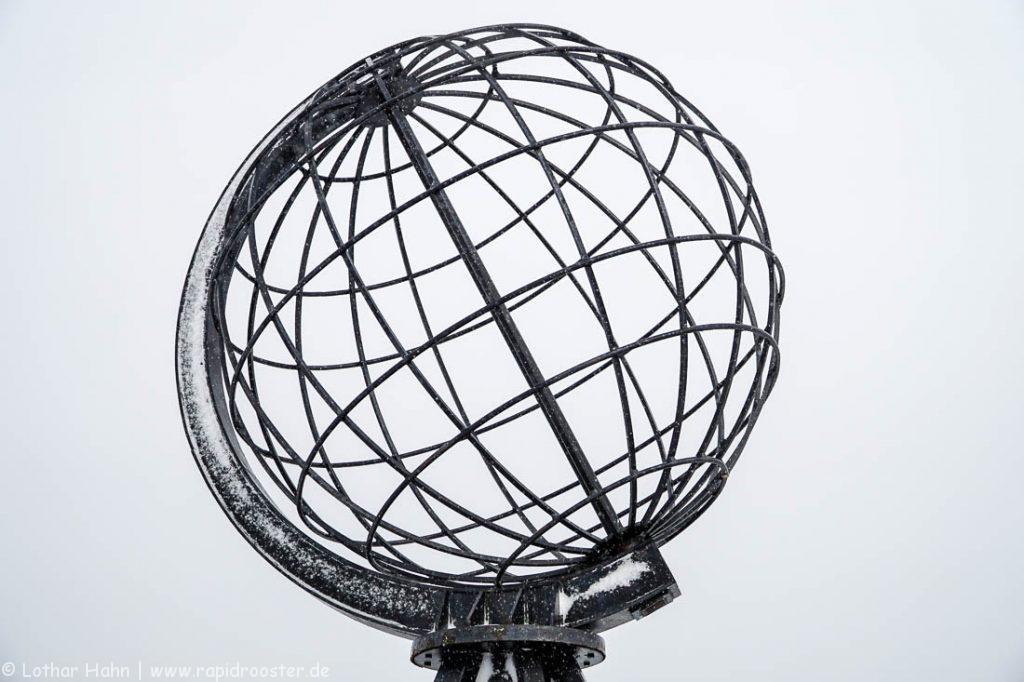Der Globus am Nordkap